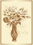 сбор винограда роз букета Иллюстрация штока