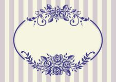сбор винограда роз рамки бесплатная иллюстрация
