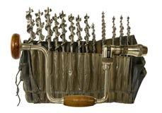 сбор винограда руки расчалки сверла установленный Стоковое Изображение RF