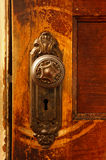 сбор винограда ручки двери Стоковое фото RF