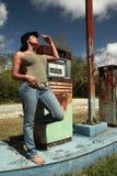 сбор винограда станции hitchhiker газа стоковые изображения