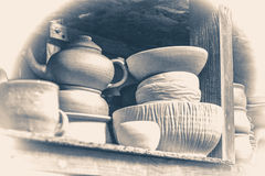 сбор винограда старого типа Яркая гончарня Стоковое Фото