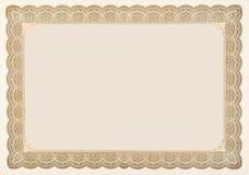 сбор винограда старого штока сертификата пансионера пустой стоковое фото