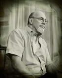 сбор винограда старшего типа портрета человека думая Стоковое Изображение RF