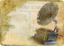 сбор винограда столба карточки стоковое фото