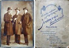 сбор винограда столба пасхи карточки Стоковые Изображения RF