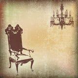 сбор винограда стула предпосылки Стоковая Фотография RF