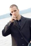 сбор винограда телефона бизнесмена Стоковые Изображения RF