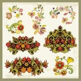 сбор винограда флористических орнаментов иллюстрация вектора