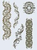 сбор винограда флористических орнаментов Стоковые Изображения