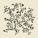 сбор винограда флористического орнамента Стоковое фото RF