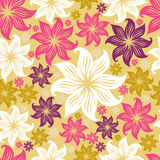 сбор винограда флористической grunge картины lilly безшовный иллюстрация штока