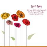сбор винограда цветка карточки бесплатная иллюстрация