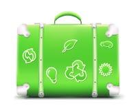 сбор винограда чемодана Стоковое Фото