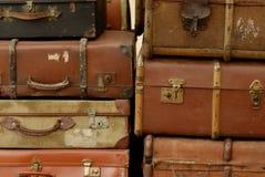 сбор винограда чемоданов стоковое изображение