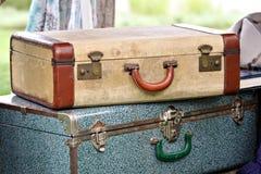 сбор винограда чемоданов Стоковые Фотографии RF