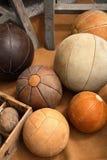 сбор винограда шариков кожаный Стоковая Фотография