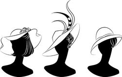 сбор винограда шлема девушки способа иллюстрация штока