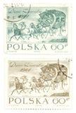 сбор винограда штемпелей почтоваи оплата Польши Стоковые Фотографии RF