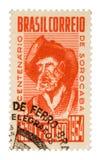 сбор винограда штемпеля почтоваи оплата Бразилии Стоковое Изображение RF