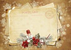 сбор винограда Щелкунчика приветствию рождества карточки Стоковое Фото