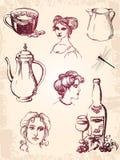 сбор винограда элементов конструкции Бесплатная Иллюстрация