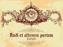 сбор винограда эмблемы Стоковая Фотография RF