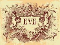 сбор винограда эмблемы Стоковое Изображение
