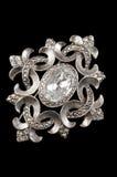 сбор винограда brooch серебряный стоковые изображения rf