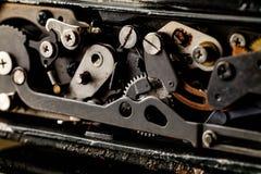 сбор винограда grunge предпосылки ретро механизм шестерен старый Стоковое фото RF