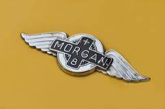 сбор винограда morgan логоса Стоковые Изображения