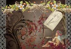сбор винограда no3 карточки стоковые изображения rf