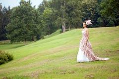 сбор винограда princess природы платья стоковая фотография
