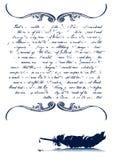 сбор винограда quill письма старый Стоковое Изображение