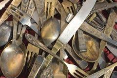 сбор винограда silverware Стоковое Фото