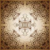 сбор винограда бумаги орнамента предпосылки геометрический старый Ретро поздравительная открытка, Стоковые Фотографии RF