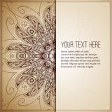 сбор винограда бумаги орнамента предпосылки геометрический старый Ретро поздравительная открытка, Стоковая Фотография RF