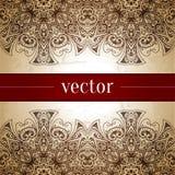 сбор винограда бумаги орнамента предпосылки геометрический старый Ретро поздравительная открытка, Стоковое Изображение RF