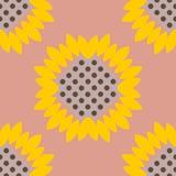сбор винограда бумаги орнамента предпосылки геометрический старый Картина солнцецветов безшовная Стоковые Фото