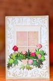 сбор винограда вектора иллюстрации приветствию eps 10 карточек Стоковая Фотография RF