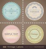 сбор винограда вектора комплекта ярлыков Стоковые Изображения