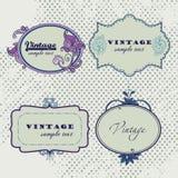сбор винограда вектора рамок Бирки Scrapbooks иллюстрация штока