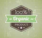 сбор винограда вектора ярлыка grunge органический ретро Стоковое Изображение RF