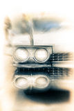 сбор винограда верхней части радиатора фар фокуса автомобиля Стоковое фото RF