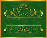 сбор винограда золота рамки Стоковые Фотографии RF