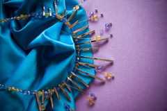 сбор винограда картины золота предпосылки голубой Стоковые Фото