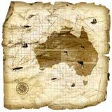 сбор винограда карты Австралии Стоковое фото RF