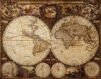 сбор винограда карты Стоковые Фотографии RF