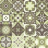 сбор винограда керамических плиток Безшовная картина заплатки вектора Стоковая Фотография RF