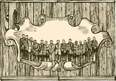 сбор винограда людей эмблемы Стоковые Фото